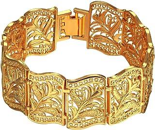 سوار بانجل مطلي بالذهب عيار 18 قيراط بسلسلة متينة وباهظة من تريندي