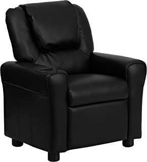 Flash Furniture Contemporary Black Leather Kids Recliner...