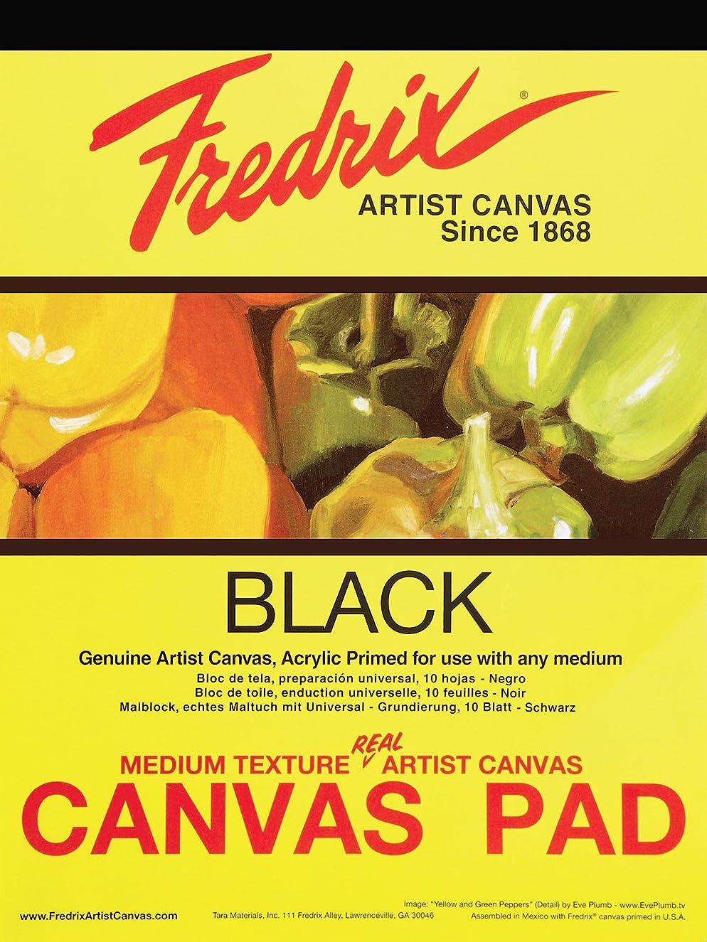 Tara Materials Fredrix 16x20 Black Canvas Pad 10 Sheets, 16 x 20 Inches,