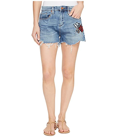Blank Off Joker Inside with NYC Cut in Detail Denim Shorts Embroidered 7rw74qx