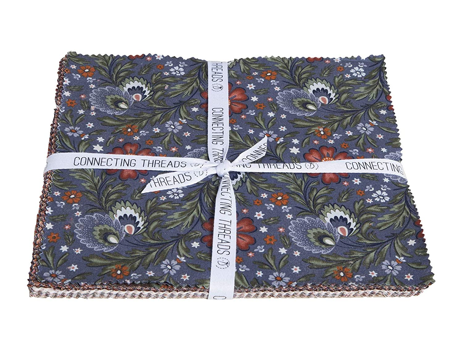 Connecting Threads Print Collection Precut Quilting Fabric Bundle (Arcadian Dusk - 10