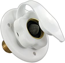 JR Products 160-85-A-26-A Polar White City Water Flange with 1/2