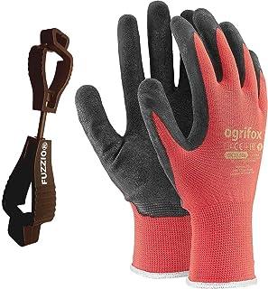 24 pares de guantes de trabajo recubiertos y porta clip para