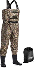 Foxelli Breathable Chest Waders – Camo Fly Fishing Waders for Men, Stockingfoot Waders with Neoprene Booties - Use for Fly Fishing, Duck Hunting, Emergency Flooding – 100% Waterproof & Lightweight