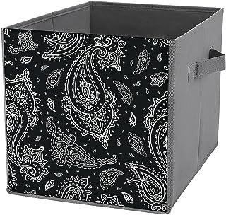 Boîte de rangement pliable en forme de cube - Organiseur de placard en tissu avec poignées pour la maison, le bureau, la c...