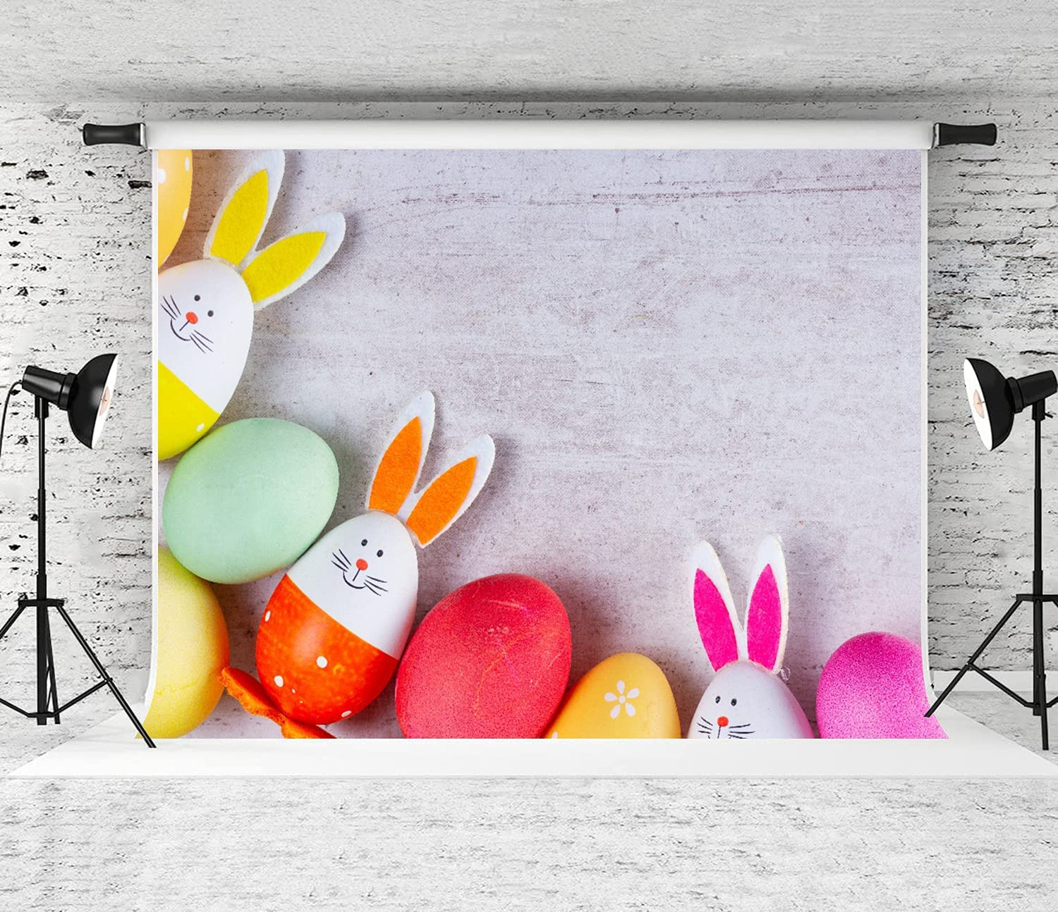 A surprise price is realized DAOPUDA Photography Background Easter cheap Scene with Pa Colored Eggs