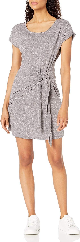 Skinnygirl Women's New life Deborah Mock Wrap Sale item Knot Dress Tie Short Sleeve