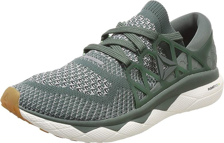 Reebok Hommes Floatride courir Ultk Neutral FonctionneHommest chaussures FonctionneHommest chaussures Dark vert - Dark gris 10,5