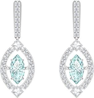 SWAROVSKI Women's Sparkling Dance Jewelry Collection, Rhodium Finish, Green Crystals, Clear Crystals