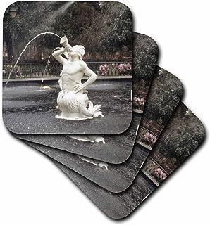3dRose CST_89309_2 Forsyth Park Fountain, Savannah Georgia - US11 BBA0018 - Bill Bachmann - Soft Coasters, Set of 8