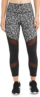 Avia Women's Active High Rise Mesh Performance Leggings (Black/White)