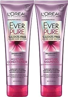 L'Oreal Paris EverPure Rosemary Moisture Bundle: Shampoo & Conditioner, 8.5 OunceEach