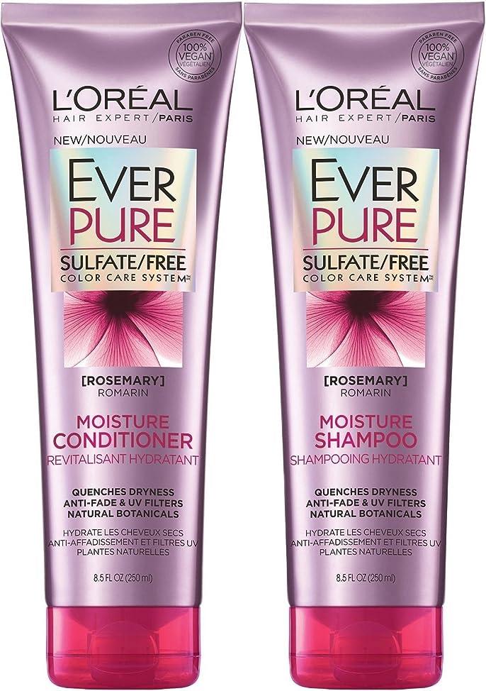 L'Oreal Paris EverPure Rosemary Moisture Bundle: Shampoo & Conditioner, 8.5 Ounce?Each