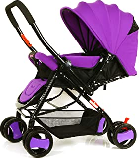 Baby Plus BP7732 Baby Stroller with Canopy, Purple - Pack of 1