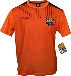 Fc Barcelona Youth Kids Training Soccer Jersey Away Personalized Custom (Add Name & Number) (YL, NO-NAME)