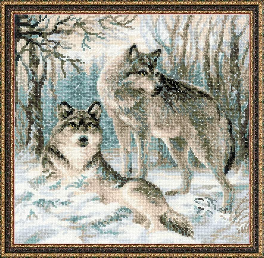 RIOLIS 1393 - Pair of Wolves - Counted Cross Stitch Kit 15.75
