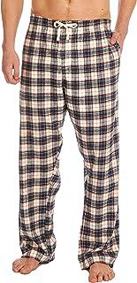 Men's Woven Checked Pyjama Bottoms Cotton Blend Twill PJ Lounge Pants Loungewear Nightwear Comfy Summer Size S M L XL XXL