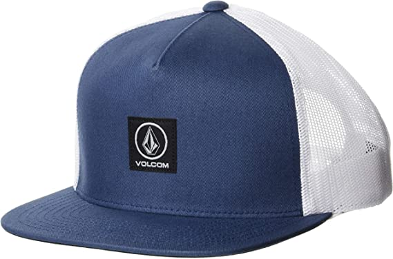 NWT Volcom Stone Carrier Cheese Cap Patch Corduroy Trucker Hat Olive Black 1Size