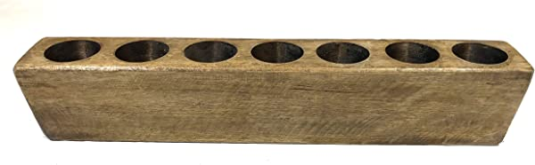 7 Hole Rustic Wooden Sugarmold Mold Only