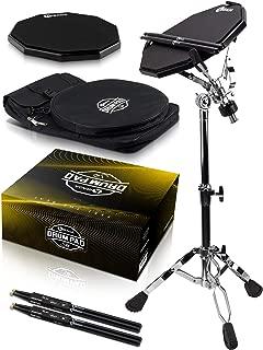 Double Sided Drum Pad Set - Responsive Drum Practice Pad...