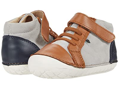 Old Soles High Pave (Infant/Toddler) (Tan/Navy/Grey Suede) Boy