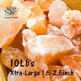 AROMA TREES 100% Authentic Pure Pink Himalayan Rock Salt 1 .5 to 2.5 Inches X-Large Chunks Stone Bag Food Grade / (10Lbs)