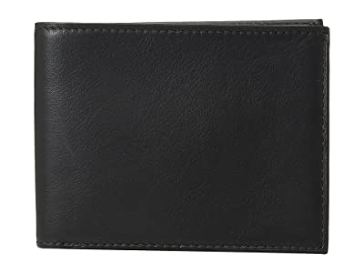 Bosca Nappa Vitello Collection Executive ID Wallet (Black Leather) Bi-fold Wallet