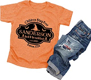 Halloween T Shirt Toddler Baby Boys Girls Sanderson Sisters Letter Print Short Sleeve Graphic Tees Tops