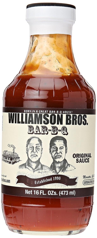 Williamson Bros Bar-B-Q Free Shipping Max 68% OFF Cheap Bargain Gift Sauce Original 16 oz