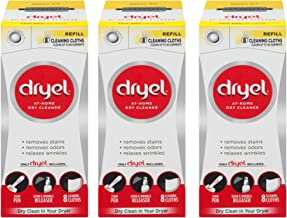 Dryel At-Home Dry Cleaner Refill Kit, 8 Count - 3 Pack