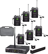 Audio2000'S AWM630BU UHF 100 Selectable Frequency Wireless In-Ear Monitor System with Six Wireless Receivers and a PVC Carrying Case
