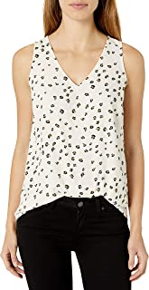 Amazon Brand - Lark & Ro Women's Standard Sleeveless Layering Tank Top: Crew and V-Neck
