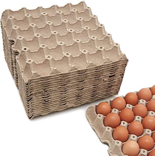Juvale Flat Paper 30 Count Egg Carton Trays 20 Pack