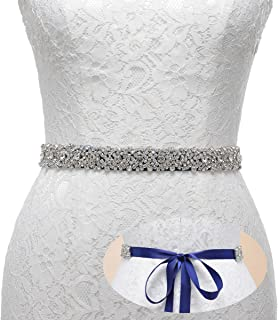 Rhinestone Bridal Belt Bridesmaid Sash Crystal Wedding Belt Women Dress Accessories