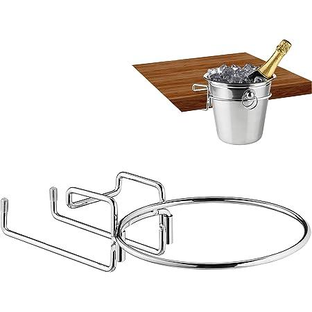 Relaxdays 10027968 Support Champagne, pour Refroidisseur à vin avec 18cm de diam. Peu encombrant, Fer,argenté