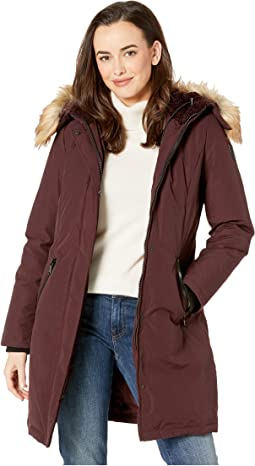 0a71288ca64a08 Long Heavy Weight Down Coat with Sherpa Hood and Faux Fur Trim R1661. Like  16. Vince Camuto