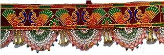 VARNI CREATION Velvet Door Toran (37 inch, Red)