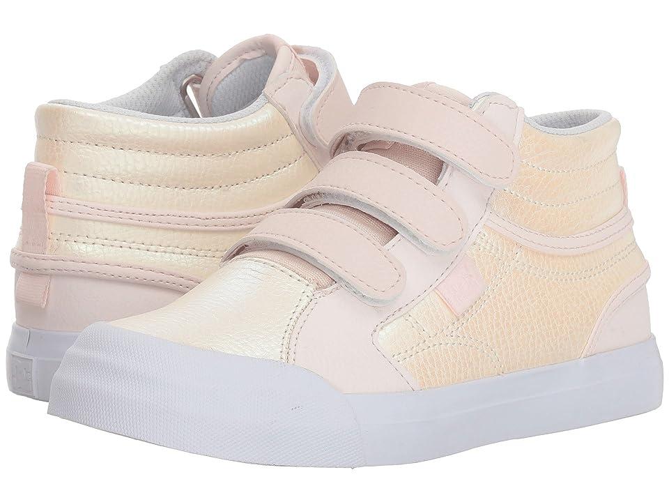 DC Kids Evan Hi V SE (Little Kid/Big Kid) (Light Pink) Girls Shoes