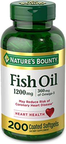 Nature's Bounty Fish Oil 1200 mg Omega-3, 200 Rapid Release Softgels