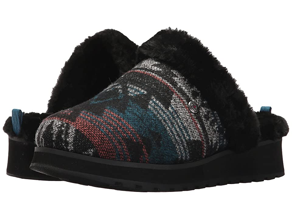 BOBS from SKECHERS Keepsakes High-Snow Crown (Black/Turqouise) Women