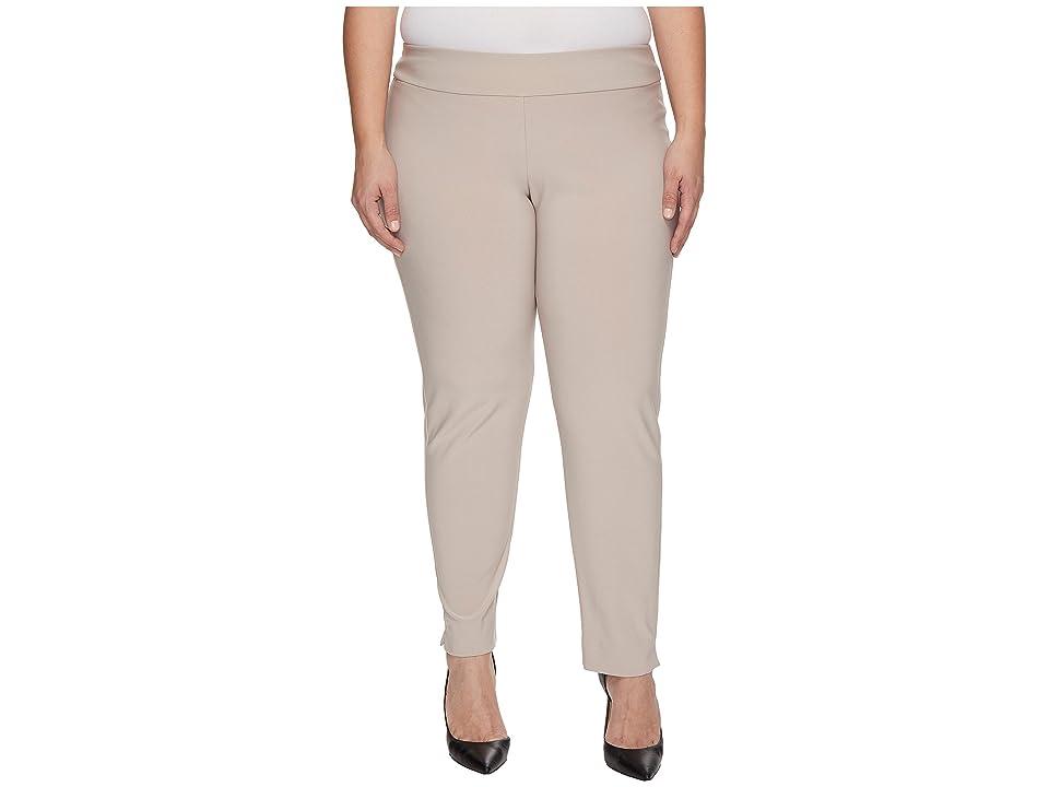 Krazy Larry - Krazy Larry Plus Size Microfiber Long Skinny Dress Pants