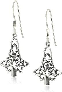 Sterling Silver Celtic Knot Drop Earrings
