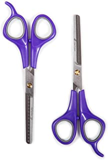 Hertzko Thinning Scissors Set by Includes a 15 teeth + 38 teeth thinning shears for thinning out petâs fur and blending sh...
