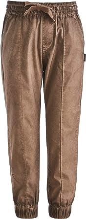 GULLIVER Pantalones para niño y niño, color marrón, cintura elástica, 2-7 años, 98-128 cm