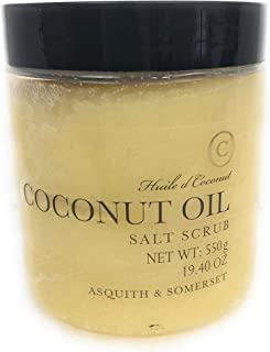 Asquith & Somerset Coconut Oil Salt Scrub 550 g.