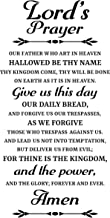 Prayer Wall Decal is a Vinyl Wall Decal Displaying a Lord's Prayer, Great Wall Art, Artwork, Sign or Decorations for a Room, Similar to Stickers or Posters - Black