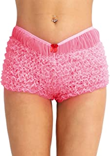 Women's Ruffled Pettipants Bloomers Lace Trim Knickers Panties Lingerie