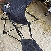 Faltbarer Regiestuhl mit Fu/ßablage und Getr/änkehalter auf beiden Seiten Faltstuhl Klappstuhl Campingstuhl Anglerstuhl grau