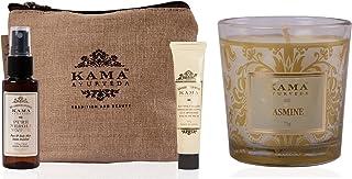 Kama Ayurveda Scrub and Glow Mini Kit With Natural Jasmine Candle