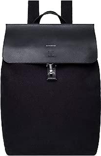 Alva Metal Hook Backpack | Black Leather